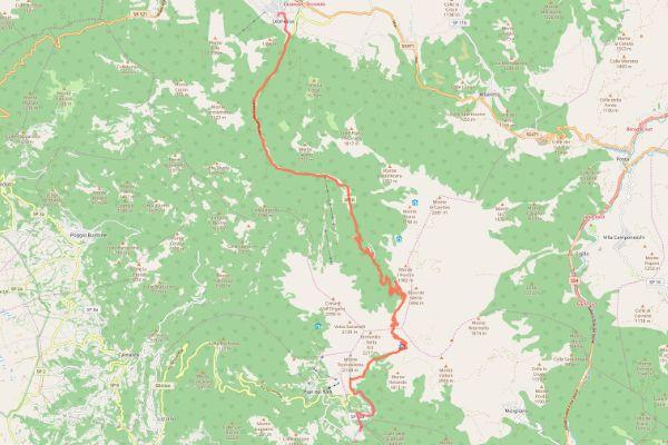 mappa della sabina cammino dei bianchi leonessa terminillo
