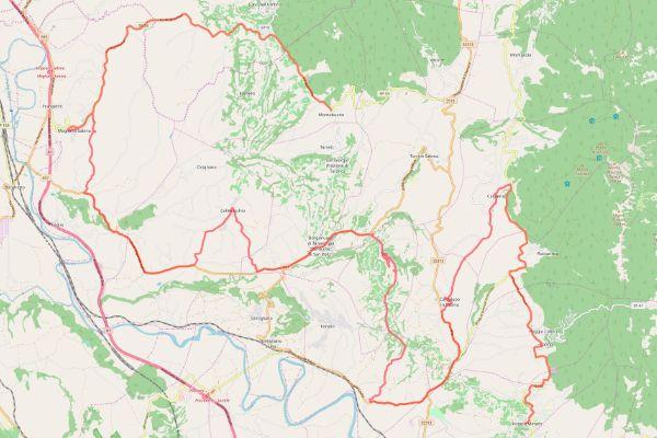 mappa della sabina cammino dei bianchi montebuono poggio mirteto