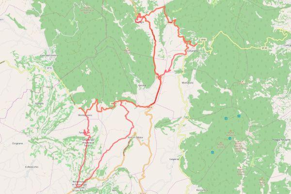 mappa della sabina cammino dei bianchi montebuono vescovio cottanello