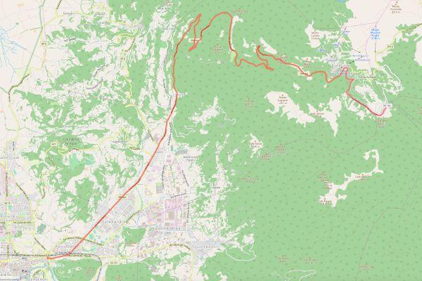 mappa della sabina cammino dei bianchi terminillo rieti
