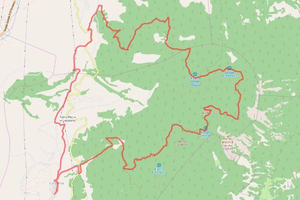 mappa ippovia della sabina