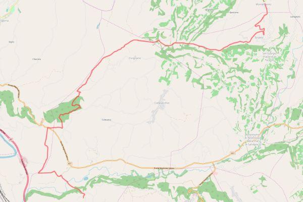 itinerario mappa sabina via campagna